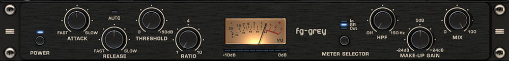 "Most compressor plugins now feature a ""mix"" knob. This is Slate's FG-Grey Bus Compressor -- modeled after the famous SSL G Series Console Bus Compressor."