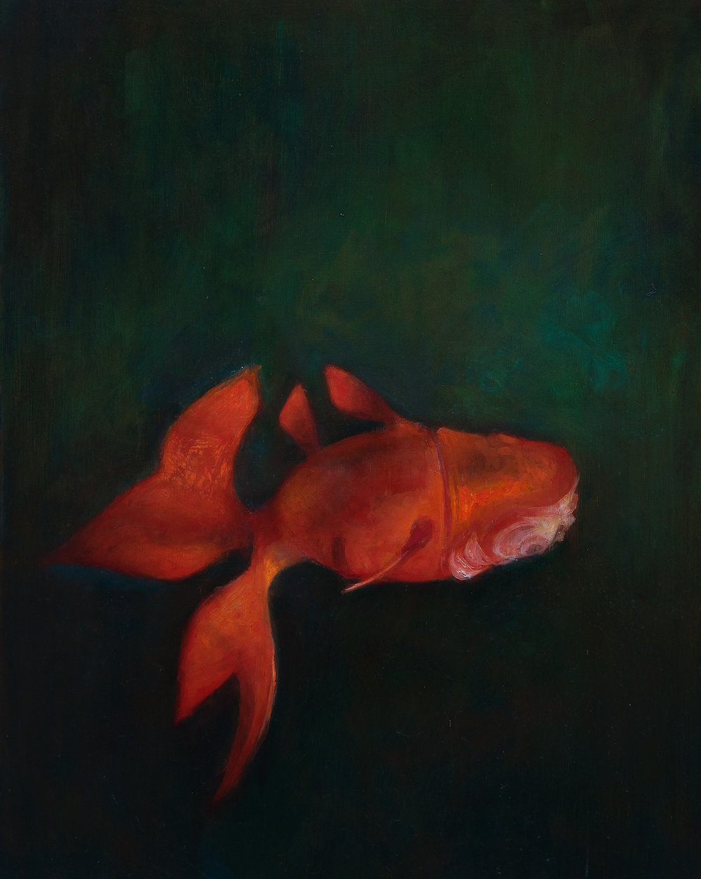 Fish oil on panel 20 x 24 in 2015