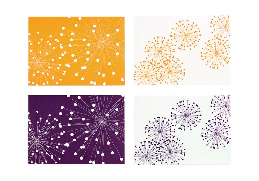 """""""Fireworks"""" Letterpress Card"""
