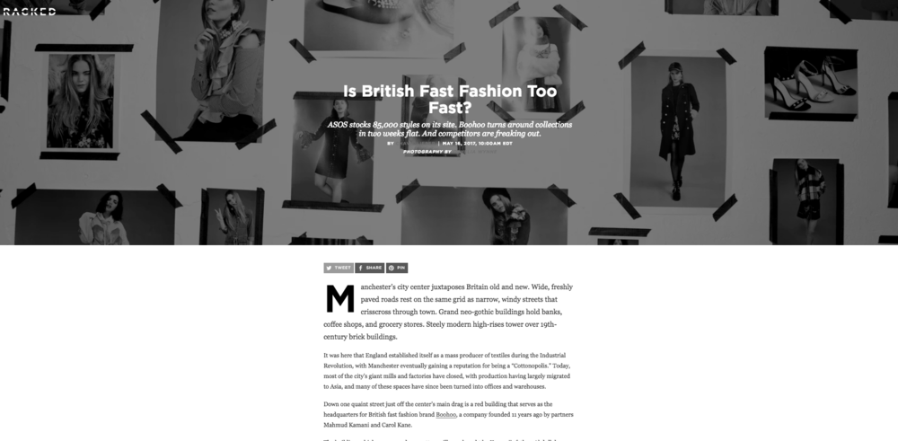 COMMENTARY: IS BRITISH FASHION TOO FAST? (2017)