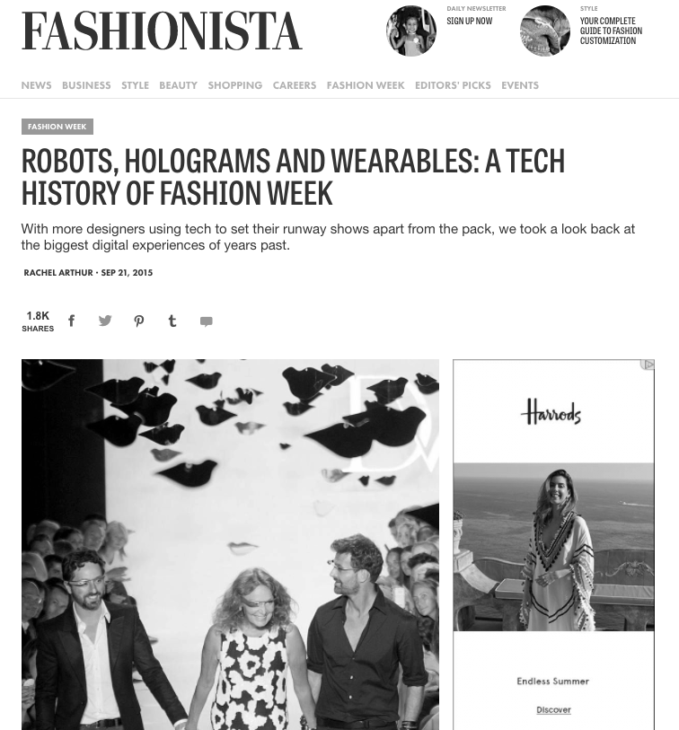 COMMENTARY: ROBOTS, HOLOGRAMS AND WEARABLES (2015)