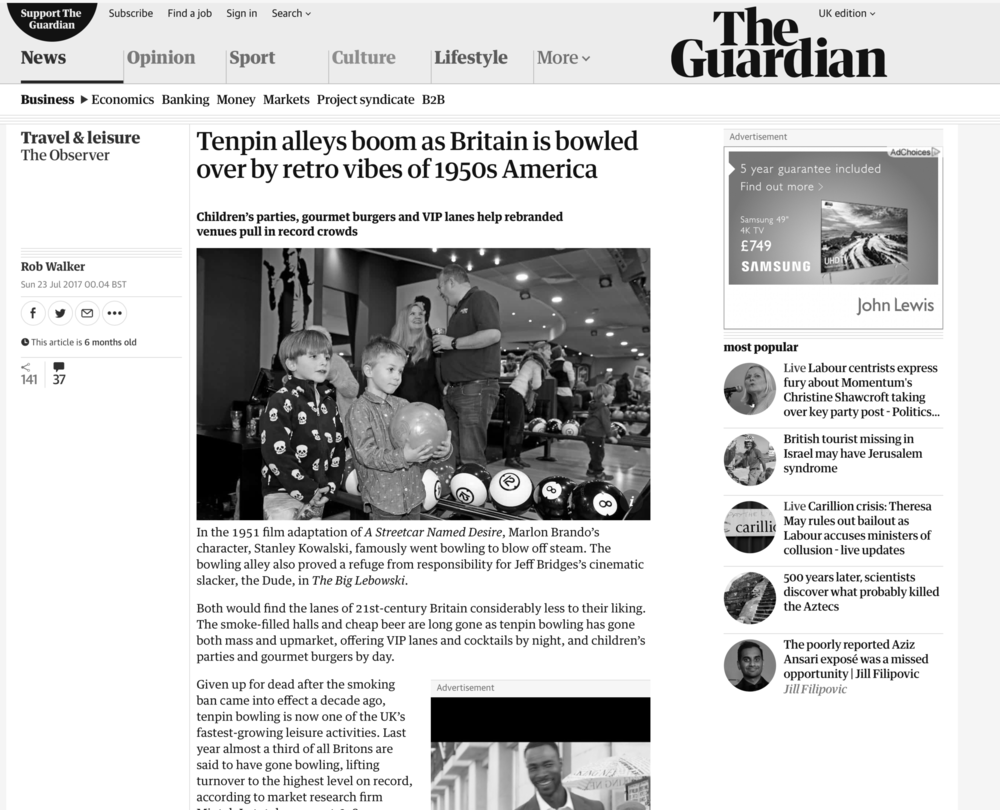 COMMENTARY: ON RETRO FASHION THE GUARDIAN (2017)
