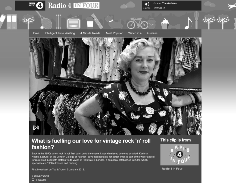 INTERVIEW: Rock and Roll Fashion for BBC Radio Four (2018)