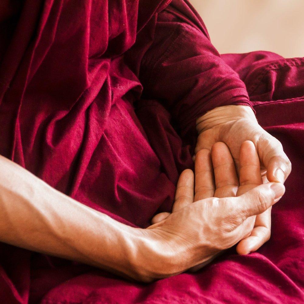 meditating hand mudra