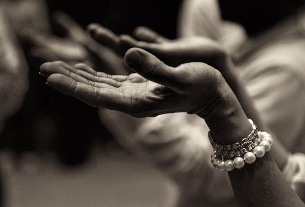 compassionate open hand mudra