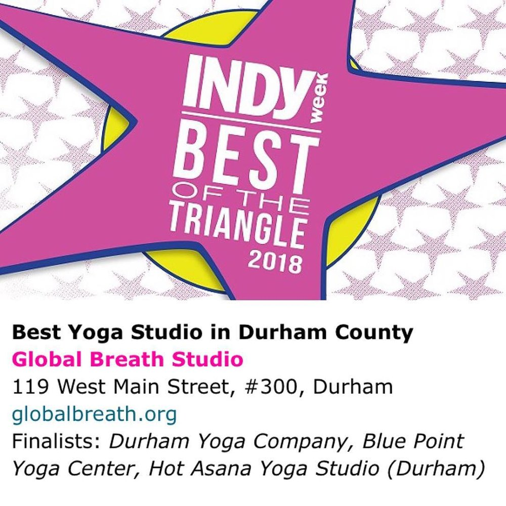 Best Yoga Studio in Durham!
