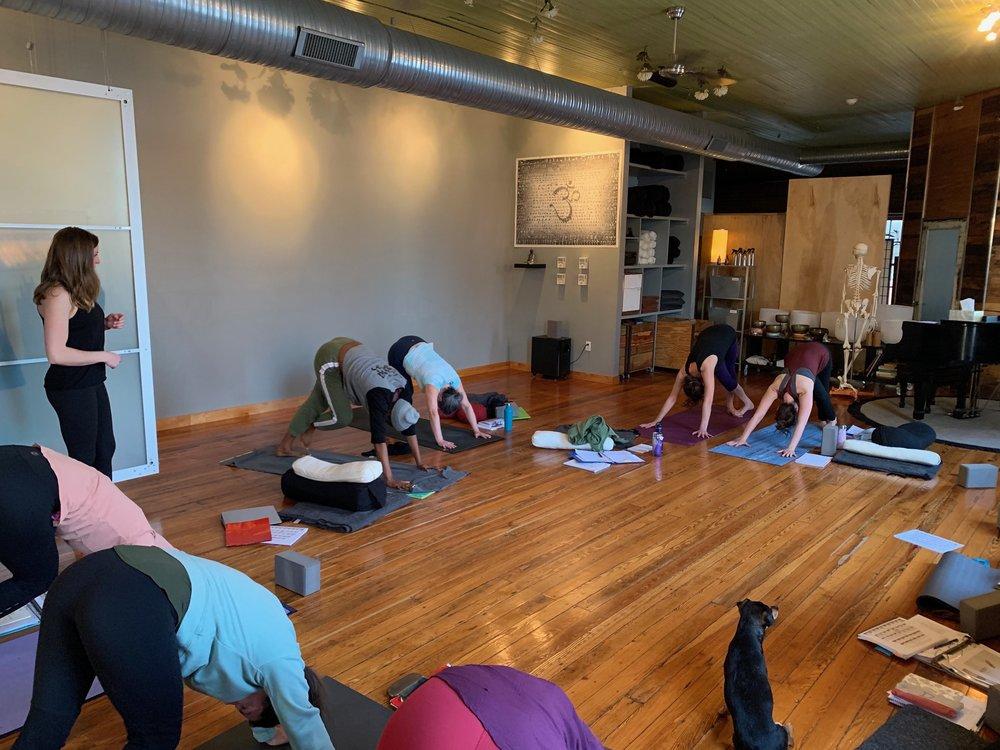 MBCY yoga teacher training session