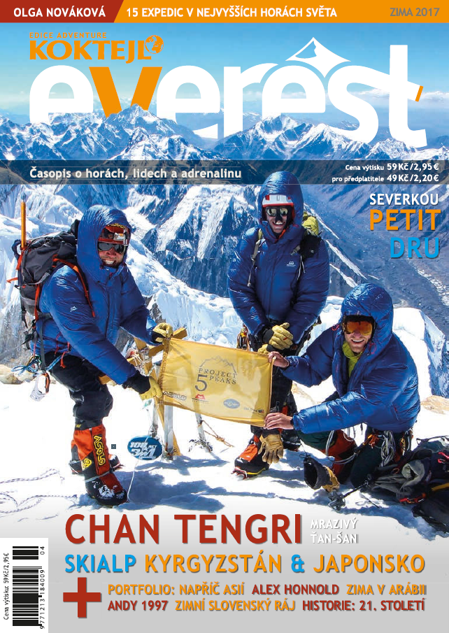 Everest magazine - winter edition 2017 - Article published in the winter edition of 2017 of the Czech Everest magazine.Read the full article