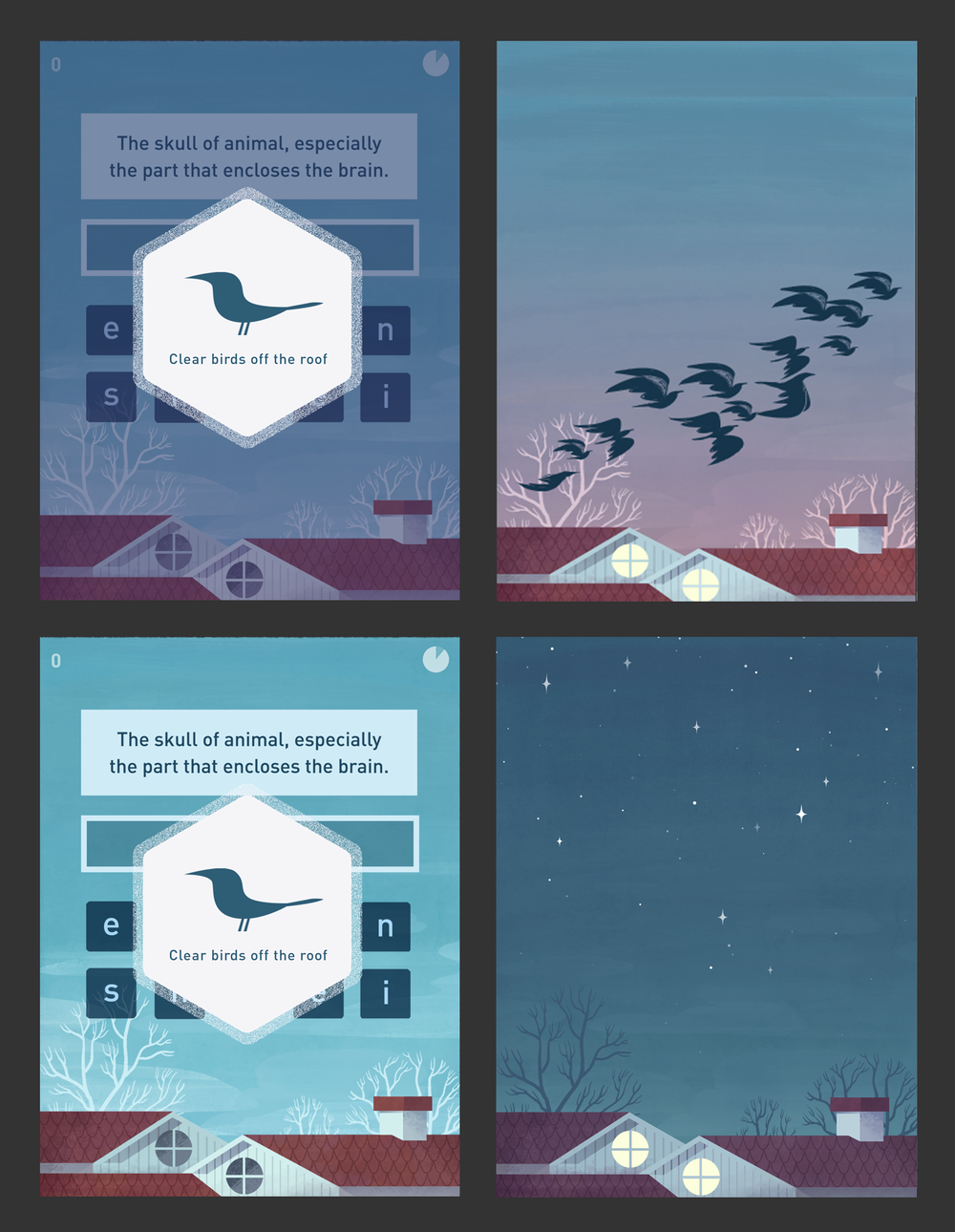 """""""Word Birds"""" Game Outro Concept"""