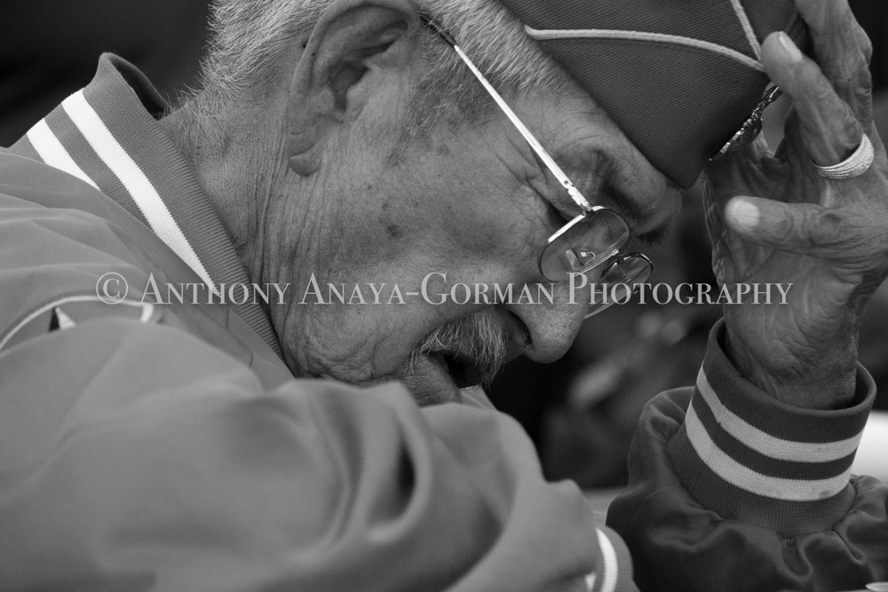 Navajo Code Talker Alfred K. Newman, Sr; 2017. Photography shot by Anthony Anaya-Gorman ©