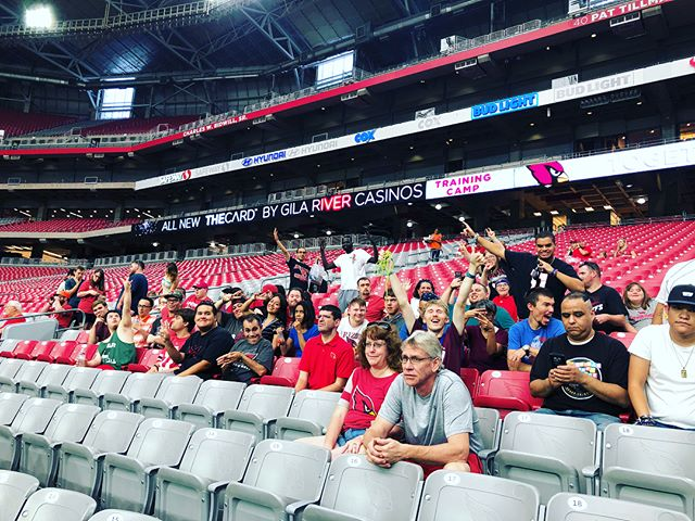 """Our members had a """"ball"""" of a time hanging out at yesterday's @azcardinals Training Camp. What can we say, we love #BigRed and the #BirdGang! #AZCardinals #TheCards #CommunityOutings #instaarizona #instagame"""