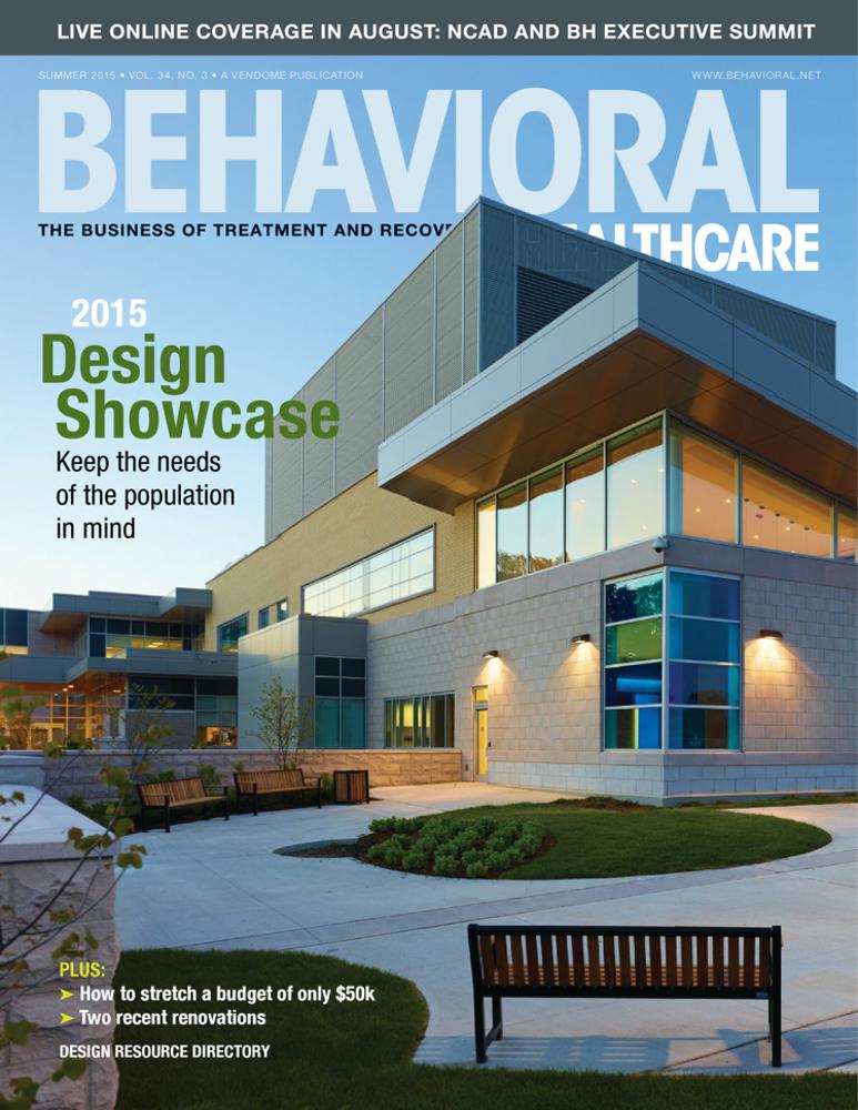Behavioral Healthcare Magazine  - June 2015  Competition:   ANNUAL DESIGN SHOWCASE BRINGS BALANCING ACT TO LIGHT    Juror: Lilliana Alvarado