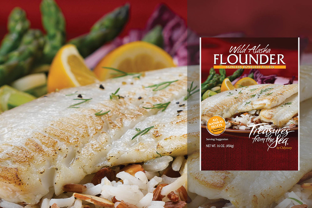 ALL NATURAL FLOUNDER FILLETS