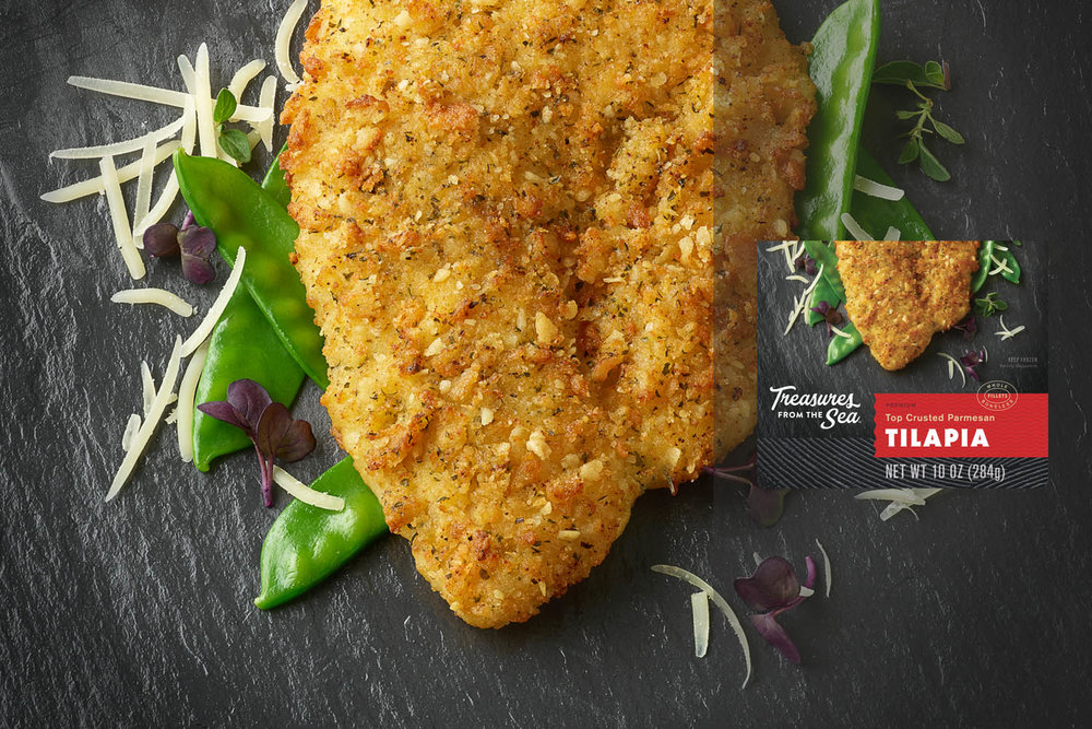 TOP CRUSTED PARMESAN TILAPIA