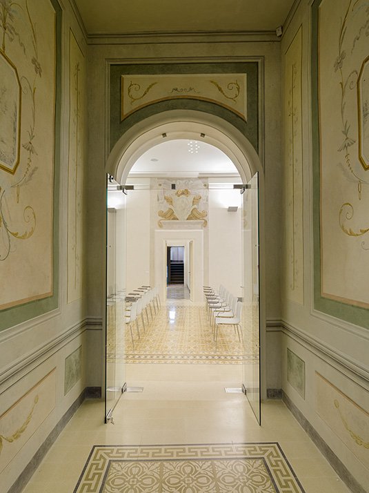 A hallway in Palazzo Boccella