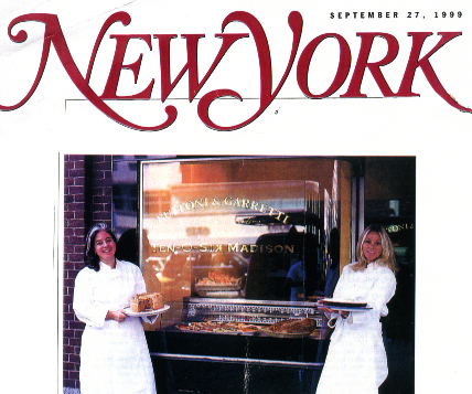 Yolanda and I in front of our Madison Avenue catering kitchen
