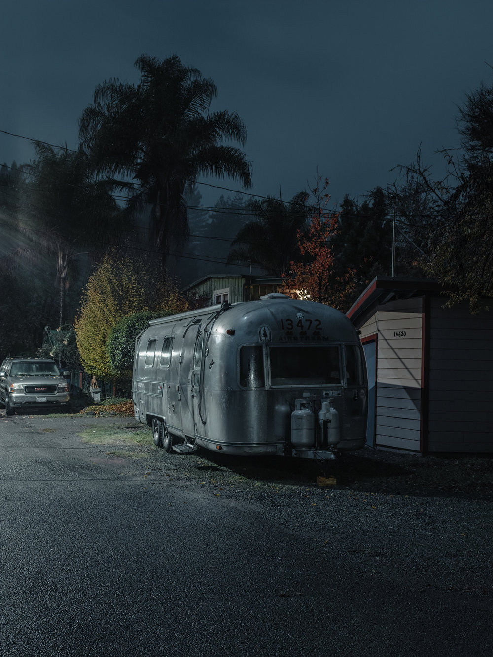 "Airstream, Guerneville, CA, 2018.  32"" x 24"", Limited Edition of 3. Archival Pigment Print, Hahnemuhle Fine Art Paper.   Pricing & Purchasing Info"