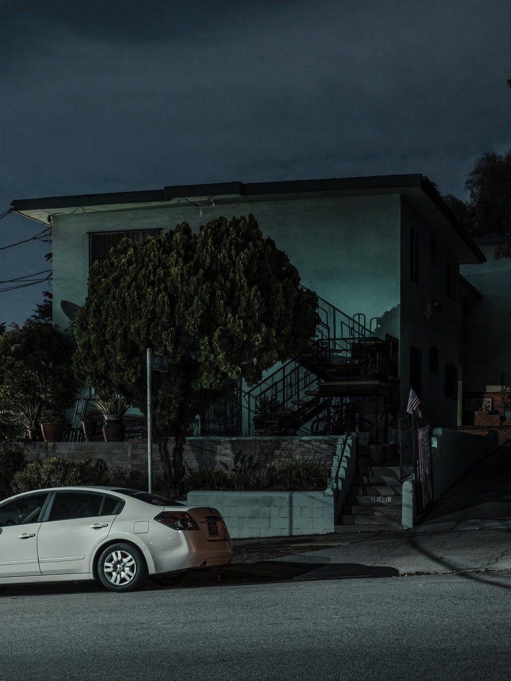 "House on Levetta and Scott, Los Angeles, 2018.  24"" x 18"", Limited Edition of 5. Archival Pigment Print, Hahnemuhle Fine Art Paper.   Pricing & Purchasing Info"