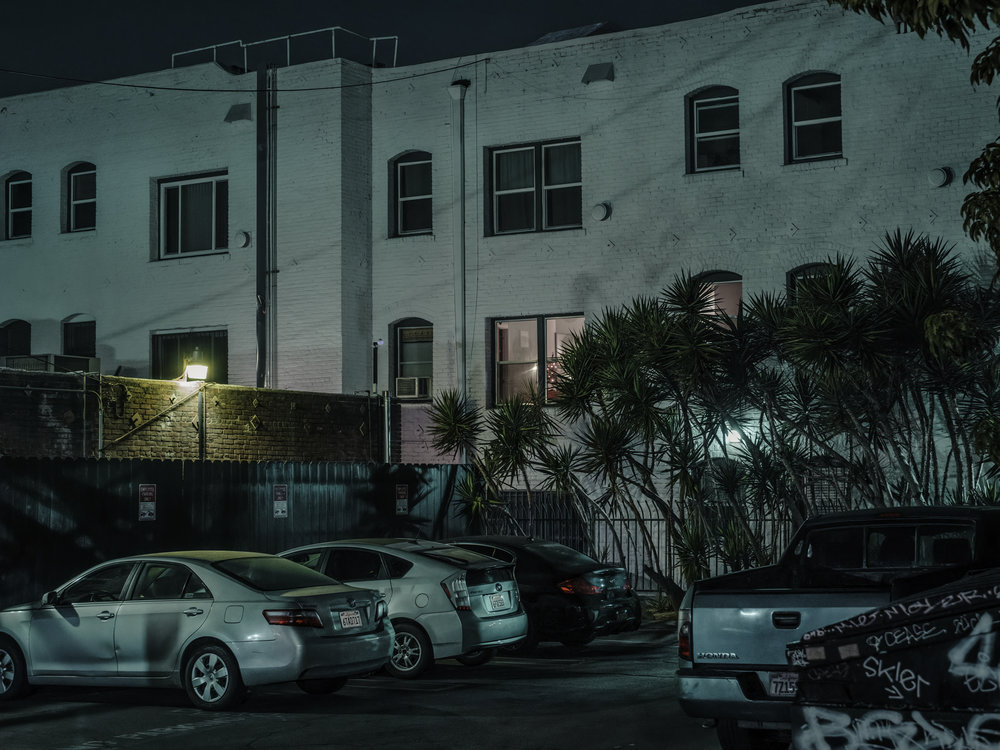 "Shortstop Parking Lot, Los Angeles, 2018.  24"" x 32"", Limited Edition of 5. Archival Pigment Print, Hahnemuhle Fine Art Paper.   Pricing & Purchasing Info"