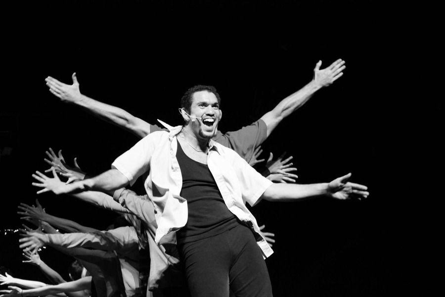 "Machicote had several solos within A Chorus Line, including one in ""Hello Twelve, Hello Thirteen, Hello Love"", that highlighted his diverse talents of singing, dancing, and acting. ""My favorite thing about performing is that I get to create and express myself in ways that I would've never thought possible. It's an entertainment industry, and throughout the performance, the audience becomes more aware of who you are...or so they think. Being able to become a completely different person, and having the audience believe that that is the real you... Well it's the biggest compliment that anyone could give a performer,"" Machicote said."