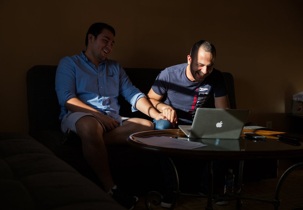 "Felipe Molina Mendoza (left) and his husband, Francisco Vargas Guadalupe (right) prepare letters of support in an effort to appeal for Mendoza to gain United States citizenship.  Mendoza, who has lived in America for most of his life, is an undocumented immigrant from Mexico City, Mexico.  After receiving notice, Mendoza was supposed to be deported February 14, but his case has been pushed back to August.  Mendoza and Vargas hope to appeal on marital grounds for Mendoza to stay and begin permanent residency on the path to citizenship.  Vargas and Mendoza were married February 19, 2017.  ""He was there for me, taking days off work to go to rallies with me, handing out fliers with my information to people, supporting me through all the stress and mood swings I had because of all that happened. Still when I was in one of my lowest points, instead of running away, he stayed by my side to care for me.  We are opposites when it comes to personality, but he has been my comfort and gives me peace."" said Mendoza of Vargas."