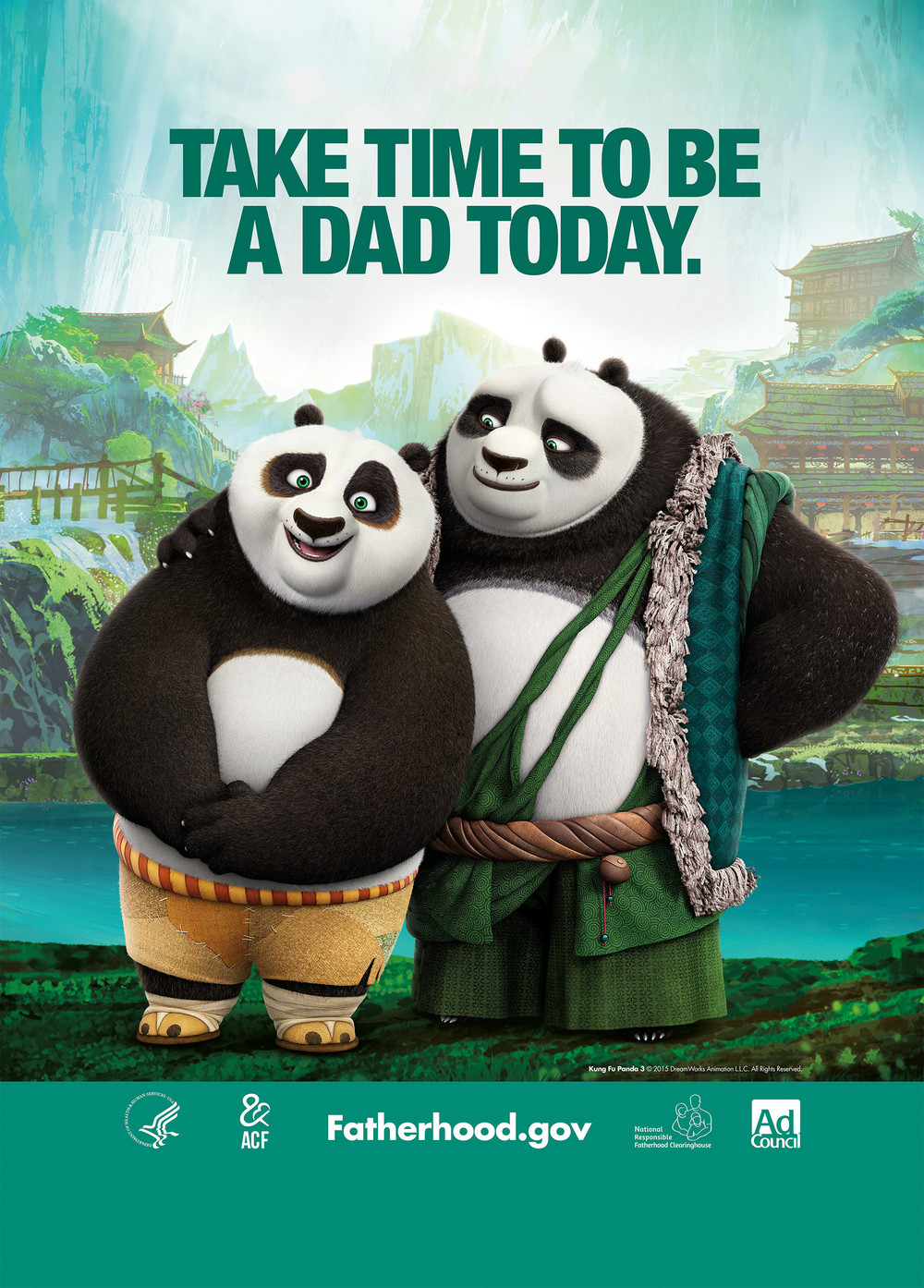 "Yo! My son and I checked out Kung Fu Panda 3 this weekend. To all the Fathers out there this movie is for us!Swaggerdad gives this movie a ""Thumb's up""Also, Our friend's over at Fatherhood.gov have some words of advice I'd like to share with you.Remember, it's never too late to break the cycle and be present in your child's life."