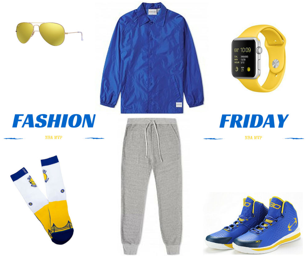 Ray Ban     MKI Coach Jacket    Apple Watch    Stance Socks Golden State    Khaki French Terry Sweat Pant    Under Armour Sneakers