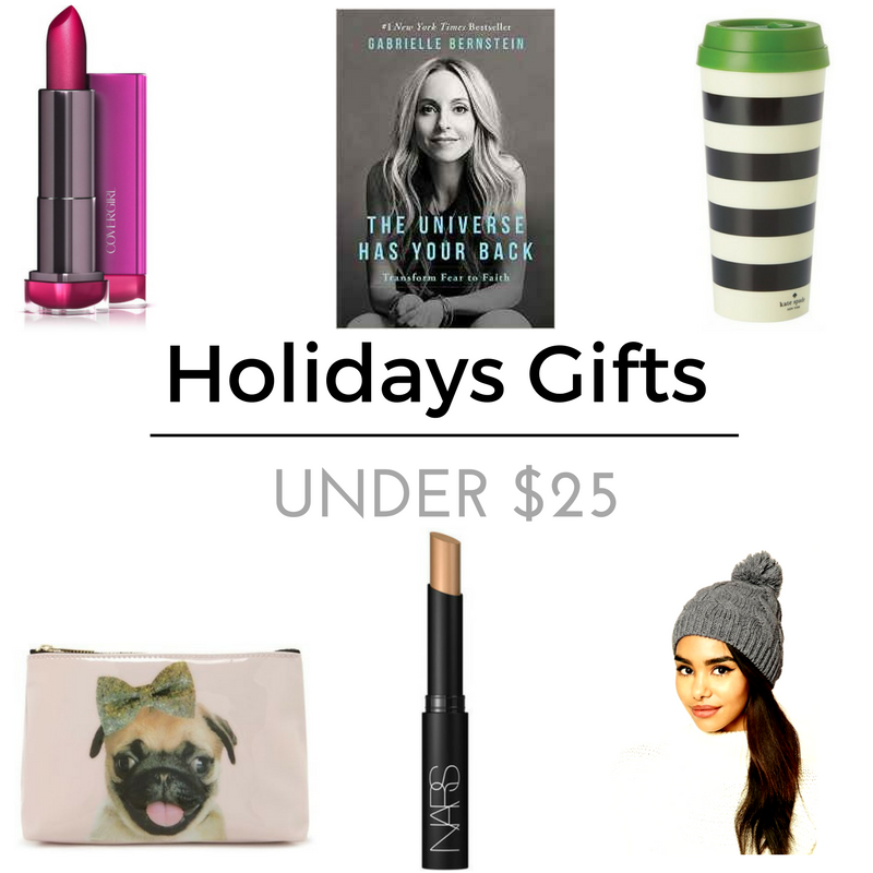 Mom's Gifts   Cover Girl LipStick    The Universe Has Your Back    Travel Coffee Mug    Makeup Bag    Eye Concealer     Knited Hat