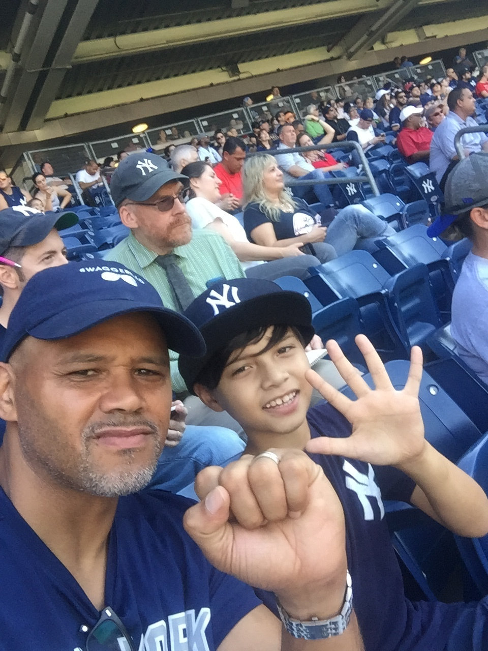 My Son and I at the Arron Judge 50 HR game