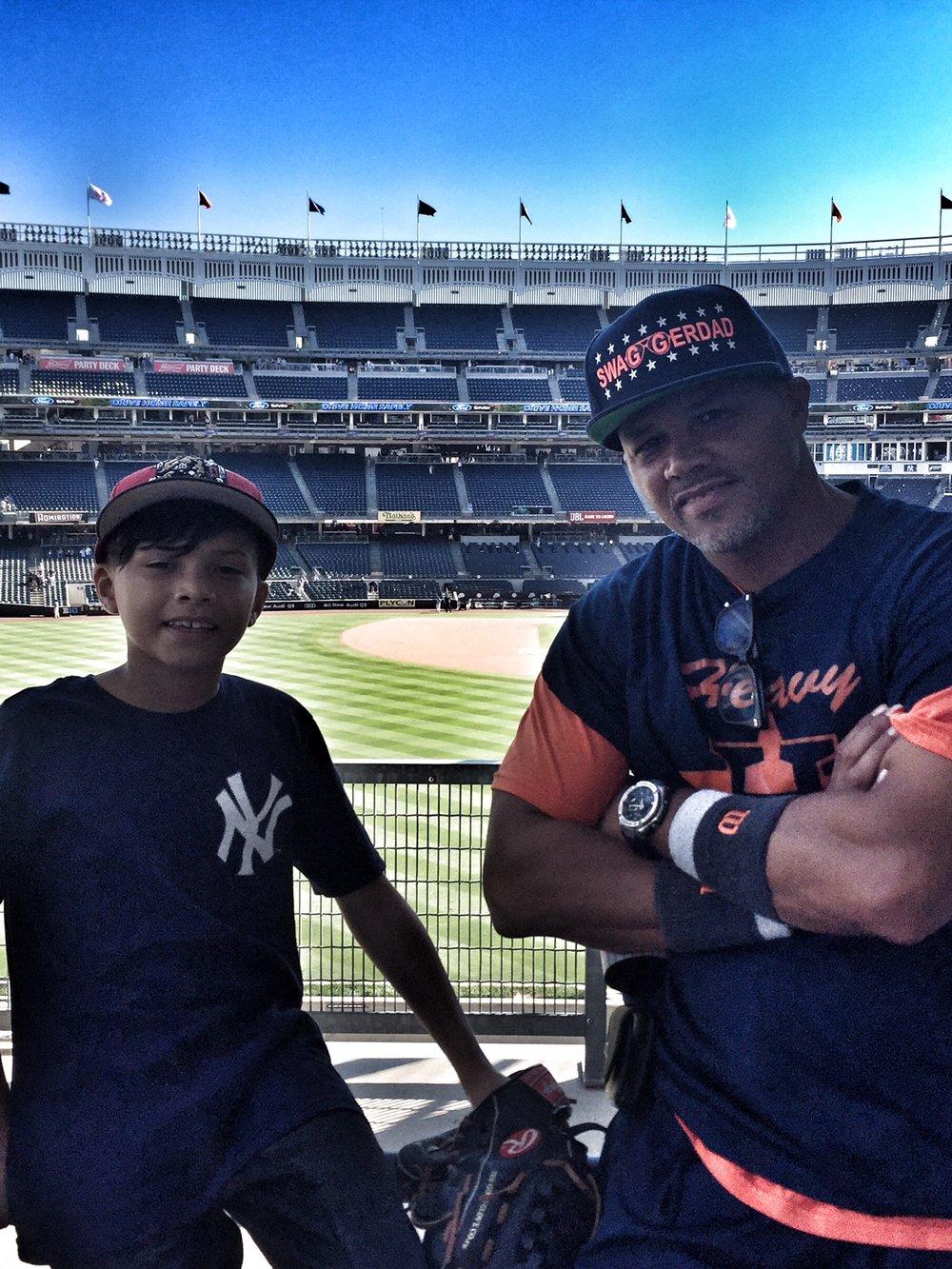 My son and I at Yankees Staduim