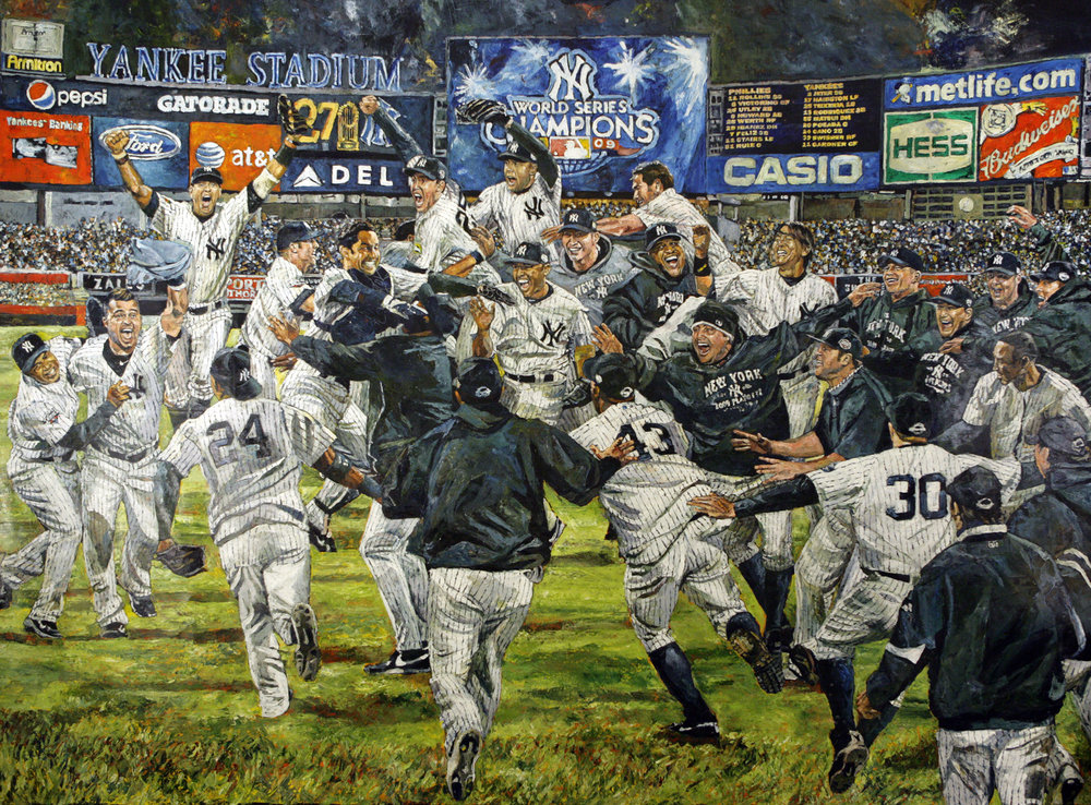 Had to put up the 2009 New York Yankees, check out this dope artwork By Opie Otterstad.