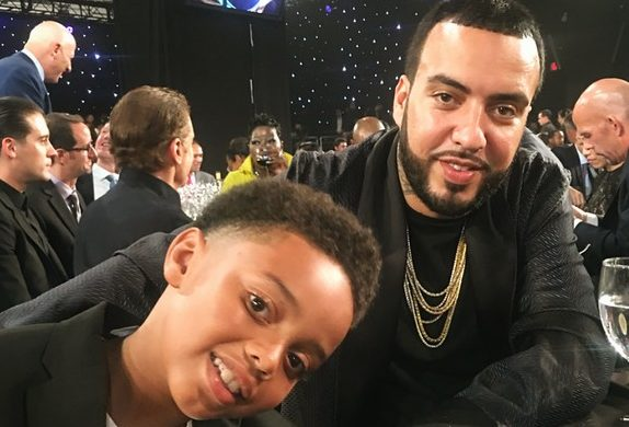 French Montana and his Son