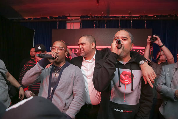 "Ja Rule, Chris and Irv at Add Ventures Launch Party. ""It's Murderrrr"""