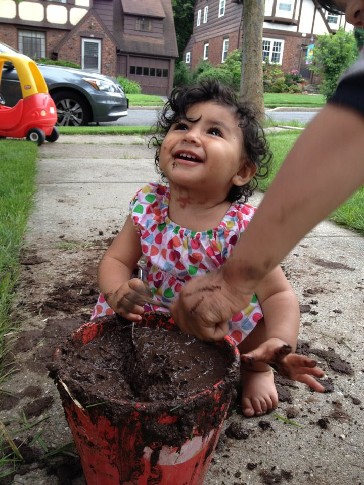 Ella Playing with Mudd
