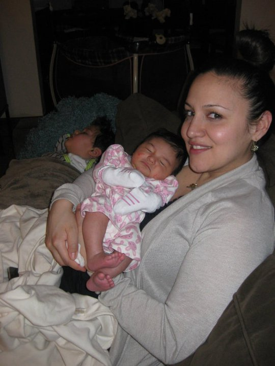 Mommy with Milian and Ella(sleeping)