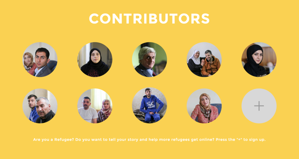 For now as placeholders I've used pictures from HONY. In fact I want this project to be different from HONY in that there is no curation of stories. Stories don't even need to be about the struggles of being a refugee, the content is whatever the person wants it to be. It's their voice.