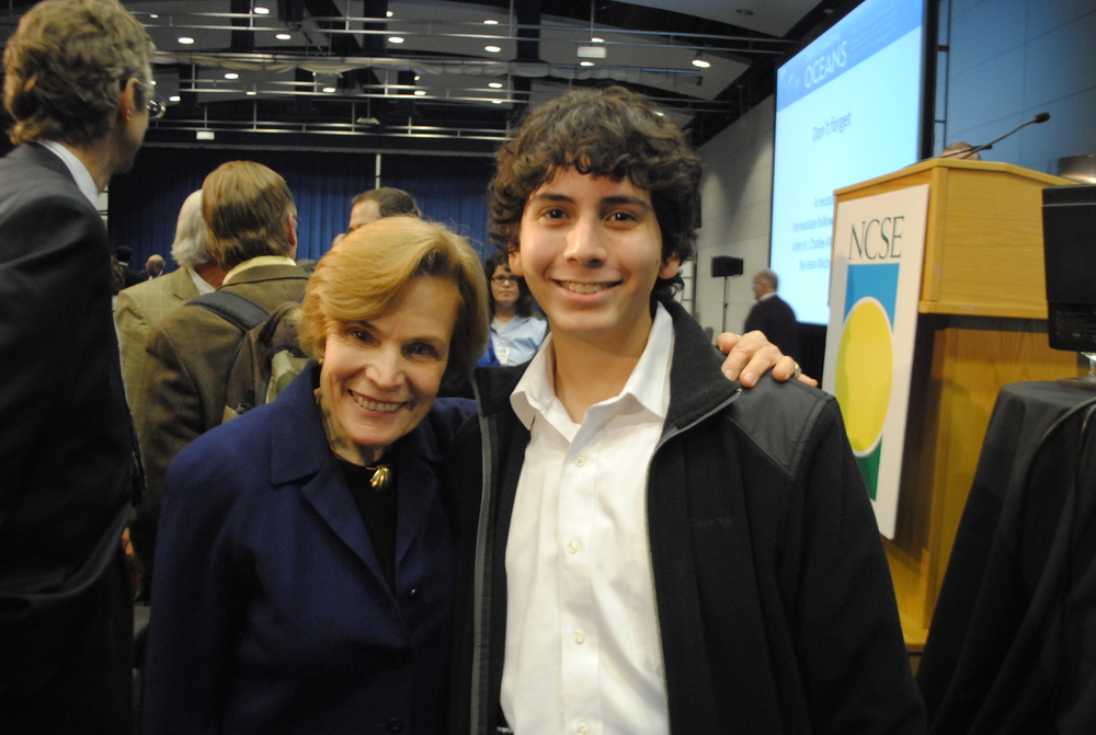 Miami Beach Senior High student, Esteban with Her Deepness, Dr. Sylvia Earle at NCSE 2011 Conference.