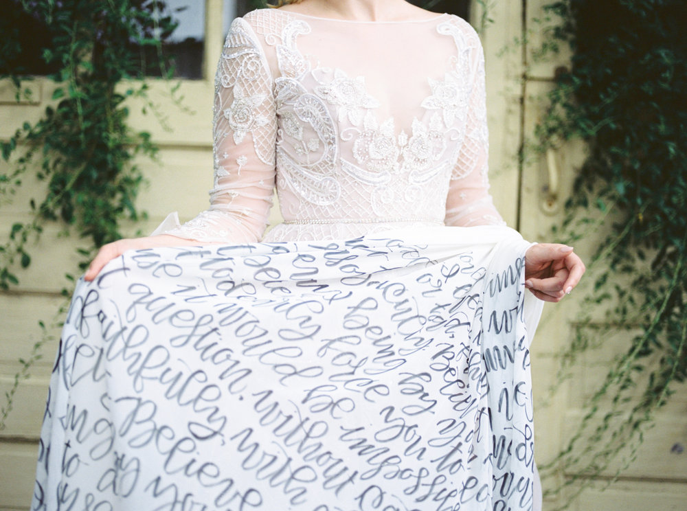 Love Letters Styled Shoot at 20 West: Hayley by Hayley Paige gown