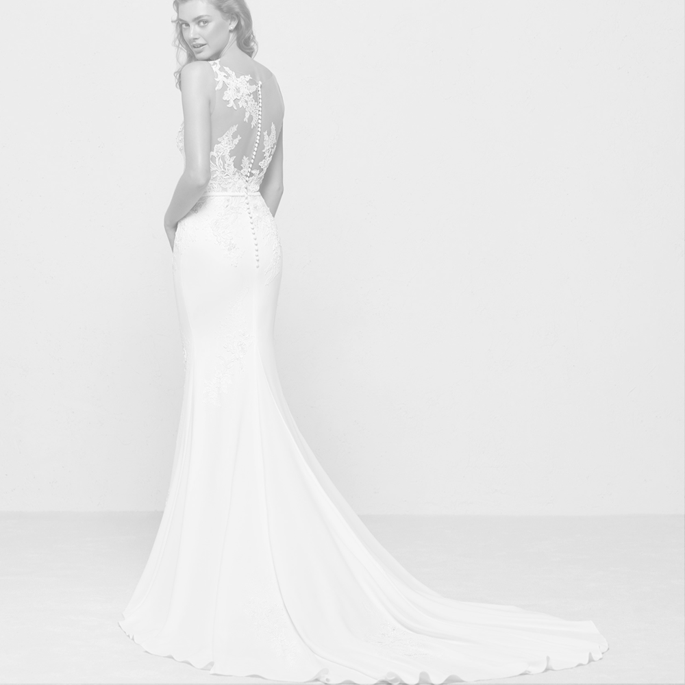 Pronovias Privee & Atelier Pronovias - Sophisticated styles and just enough drama characterize the two newest collections added to our roster, both from Pronovias. Skillfully made in Barcelona, these gowns provide a fit and style that make for a memorable entrance.starting at $2,500