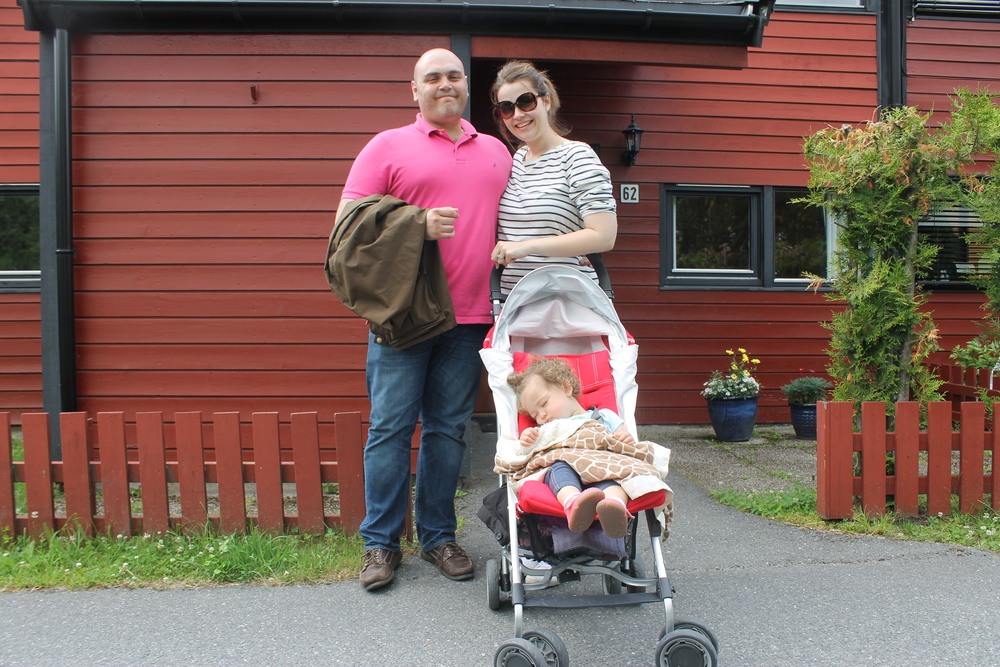 Picture is in front of the house I grew up in Kolsås, Norway.