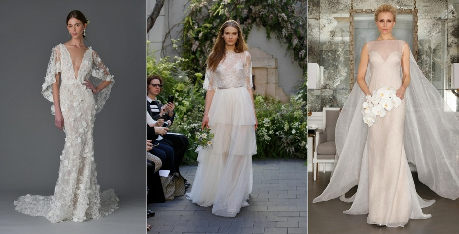 Designers left to right: Marchesa, Monique Lhuillier, Ramona Kevesa Collection