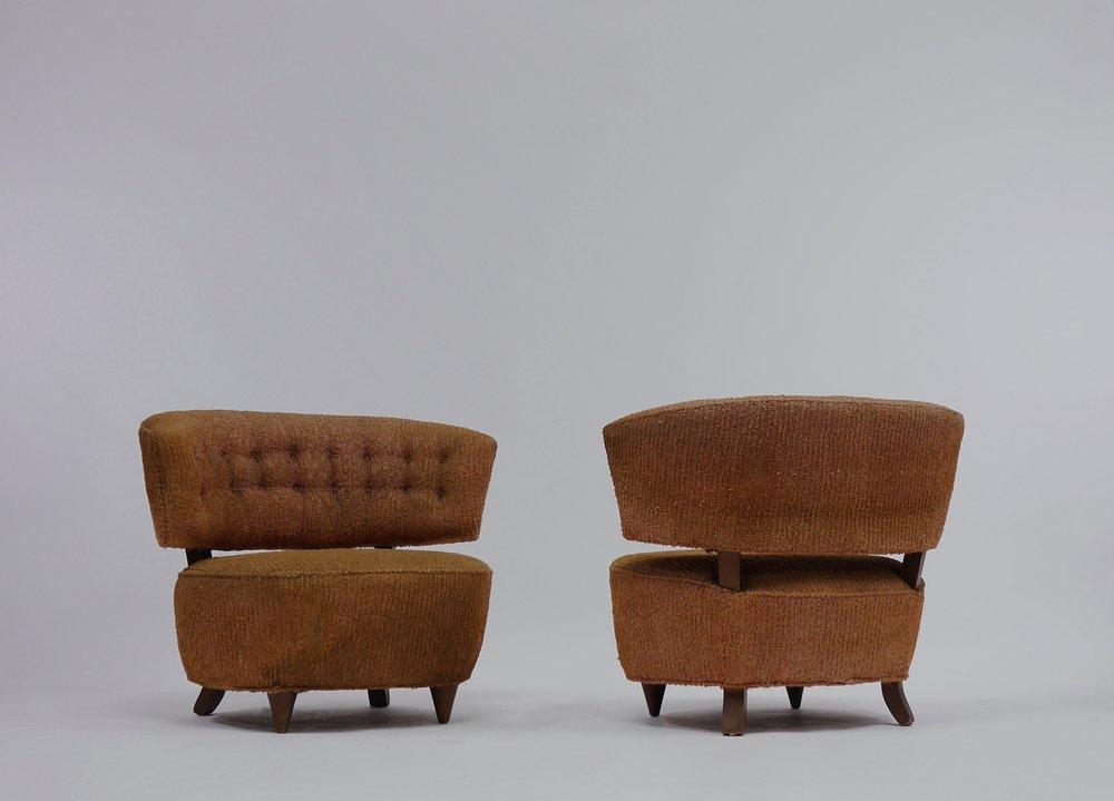 Pair Of Gilbert Rohde Slipper Lounge Chairs U2014 Continuum 20th Century Design
