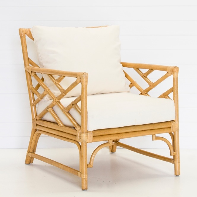 NATURAL ARM CHAIR WITH CUSHIONS QUANTITY: 6