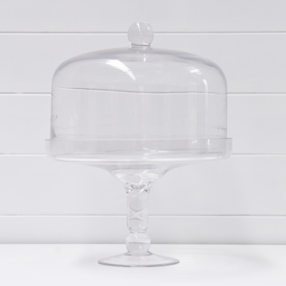 GLASS CAKE STAND QTY: 2