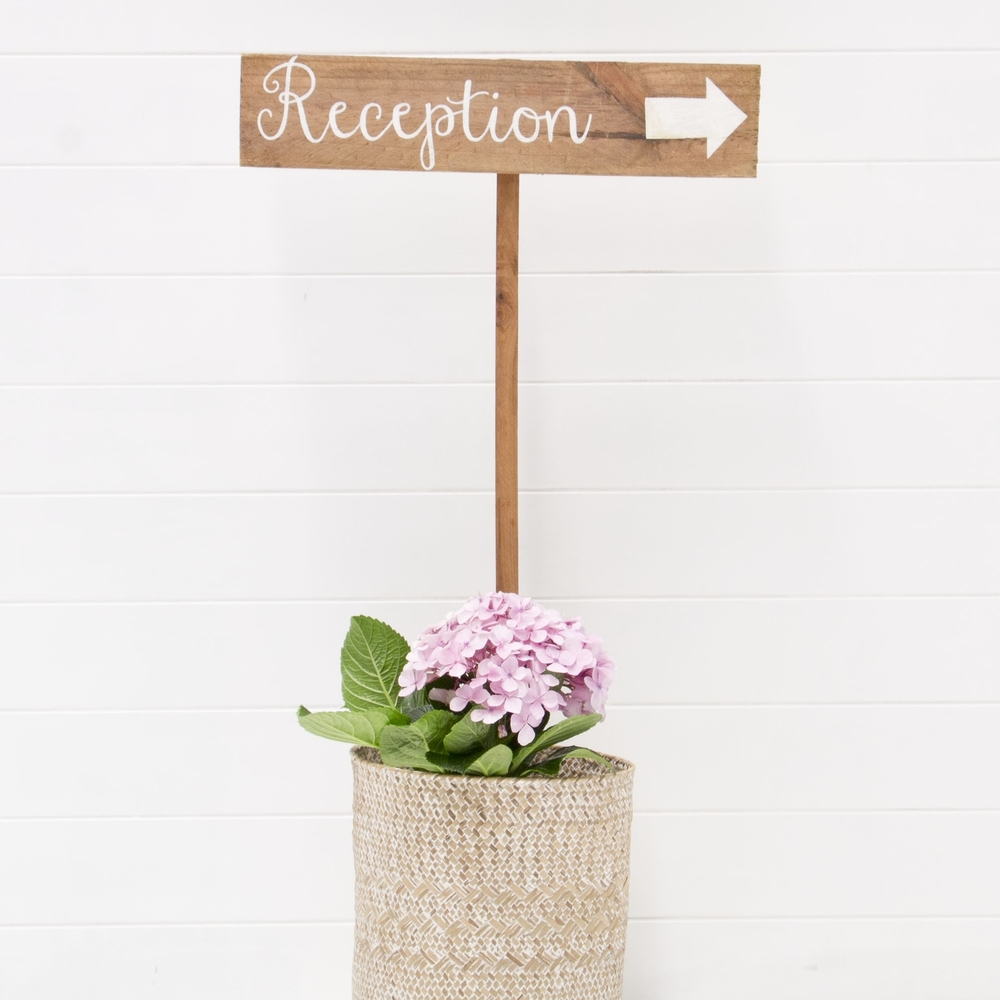 RECEPTION SIGN QTY: 1