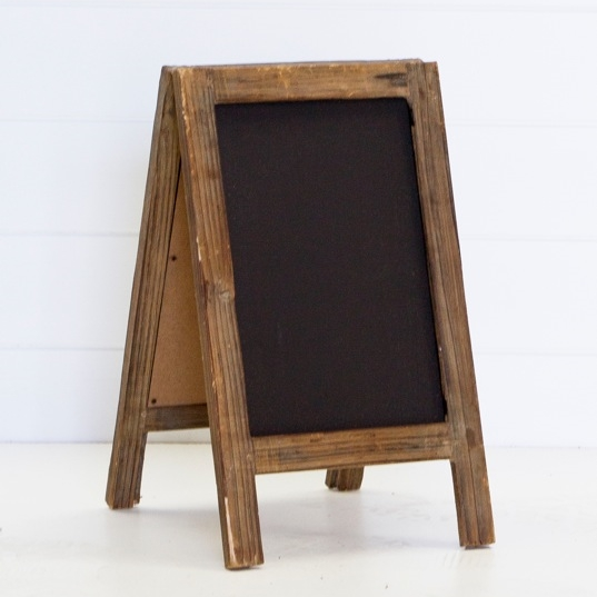 SMALL A-FRAME CHALK BOARD QTY: 3