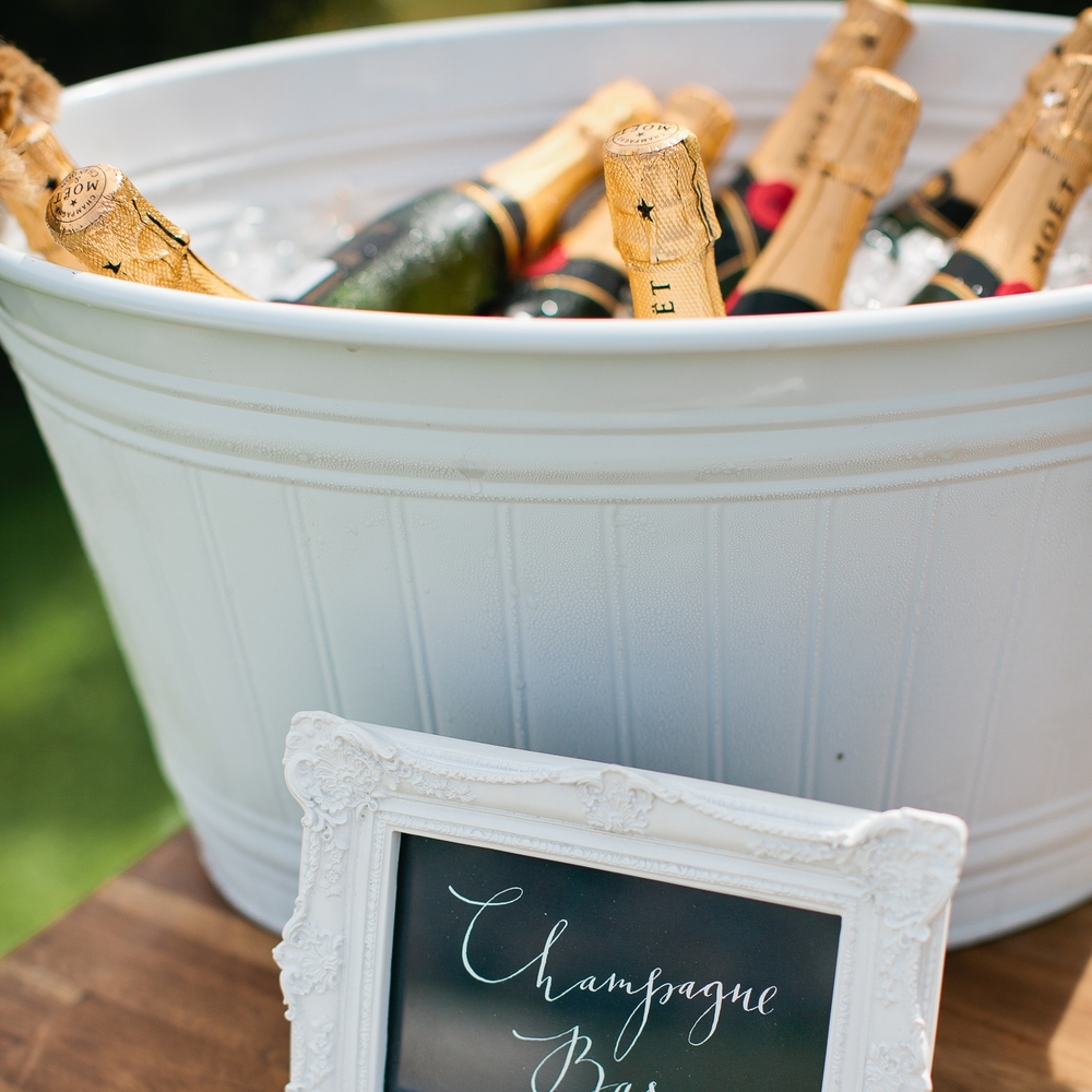White Champagne Tub