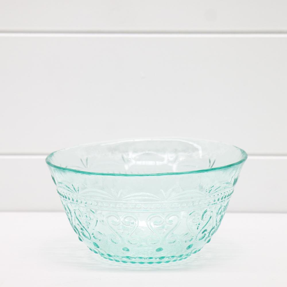 Small Aqua Glass Bowl
