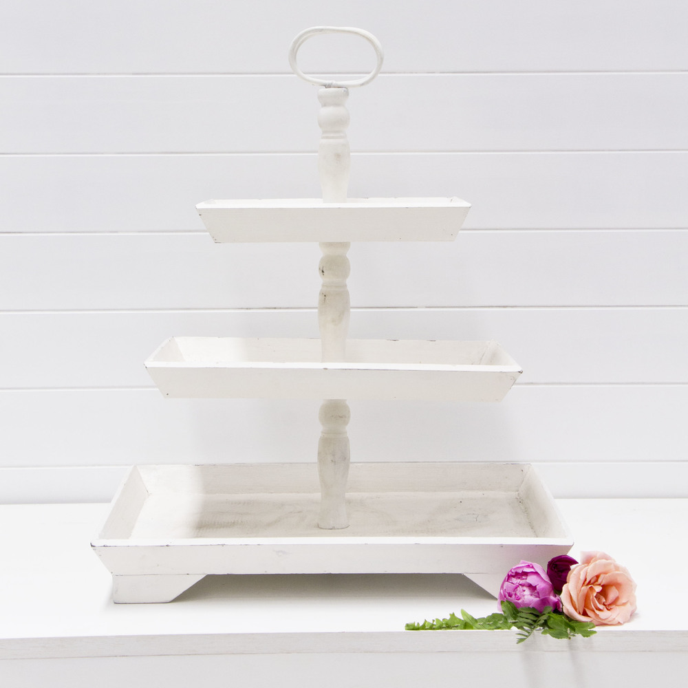 White Three Tier Stand