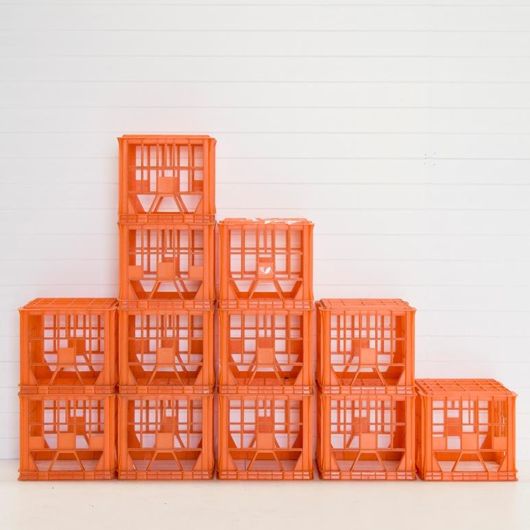 Orange Milk Crate